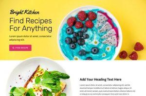 ejemplo diseño web wordpress portfolio web recetas nutricion