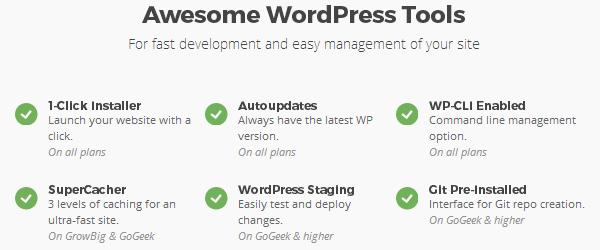 SiteGround - Herramientas de WordPress
