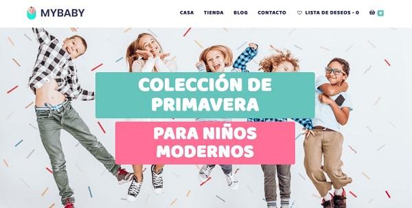 Diseño Tienda Online wordpress de Bebes