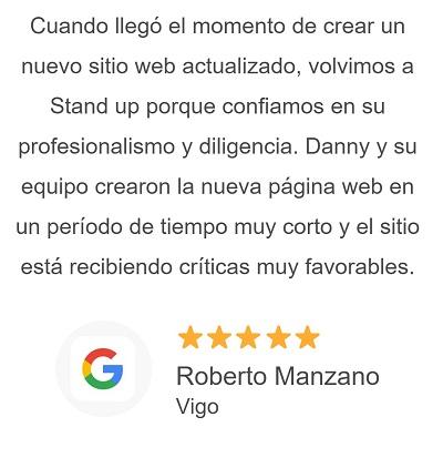 Opiniones de clientes de Stand Up Diseño Pagina Web Huelva