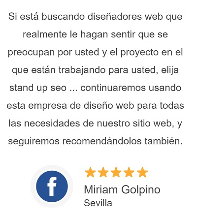 Opiniones de clientes de Stand Up Empresa Diseño Pagina Web Huelva