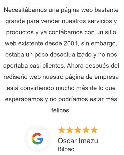 Opiniones de clientes de Stand Up Crear Página Web Huelva